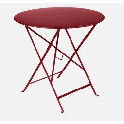 Table métal Bistro Ø 77cm piment FERMOB