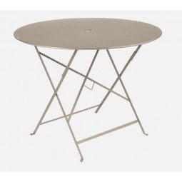 Table métal Bistro Ø 96cm muscade FERMOB