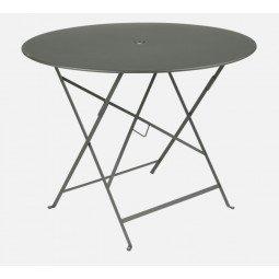 Table métal Bistro Ø 96cm romarin FERMOB