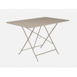 Table métal Bistro 117x77cm muscade FERMOB