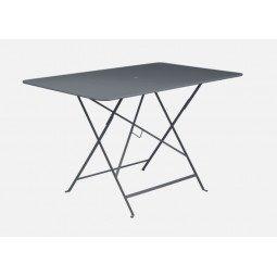 Table métal Bistro 117x77cm carbone FERMOB