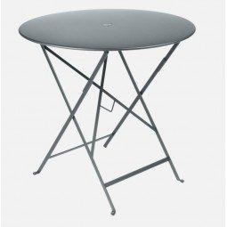 Table métal Bistro Ø77cm gris orage FERMOB
