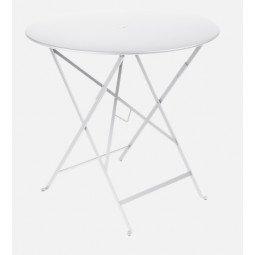 Table métal Bistro Ø77cm coton blanc FERMOB