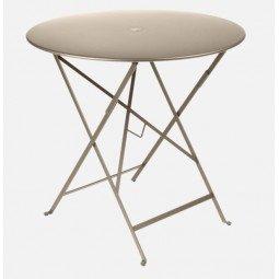 Table métal Bistro Ø77cm muscade FERMOB
