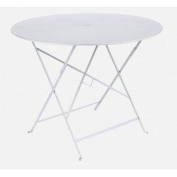 Table métal Bistro Ø96cm coton blanc FERMOB
