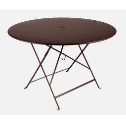 Table métal Bistro Ø117cm rouille FERMOB
