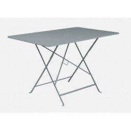 Table métal Bistro 117x77cm gris orage FERMOB