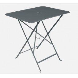 Table métal Bistro 77x57cm gris orage FERMOB