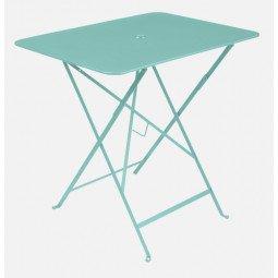 Table métal Bistro 77x57cm bleu lagune FERMOB